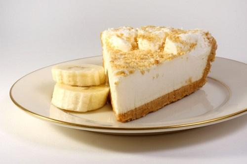 Банановый тортик с творогом
