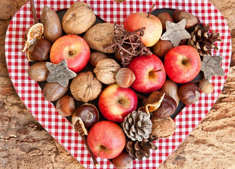 Сладкое яблочное сердце