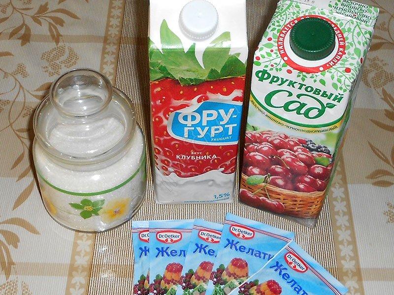 желе из сока ингредиента
