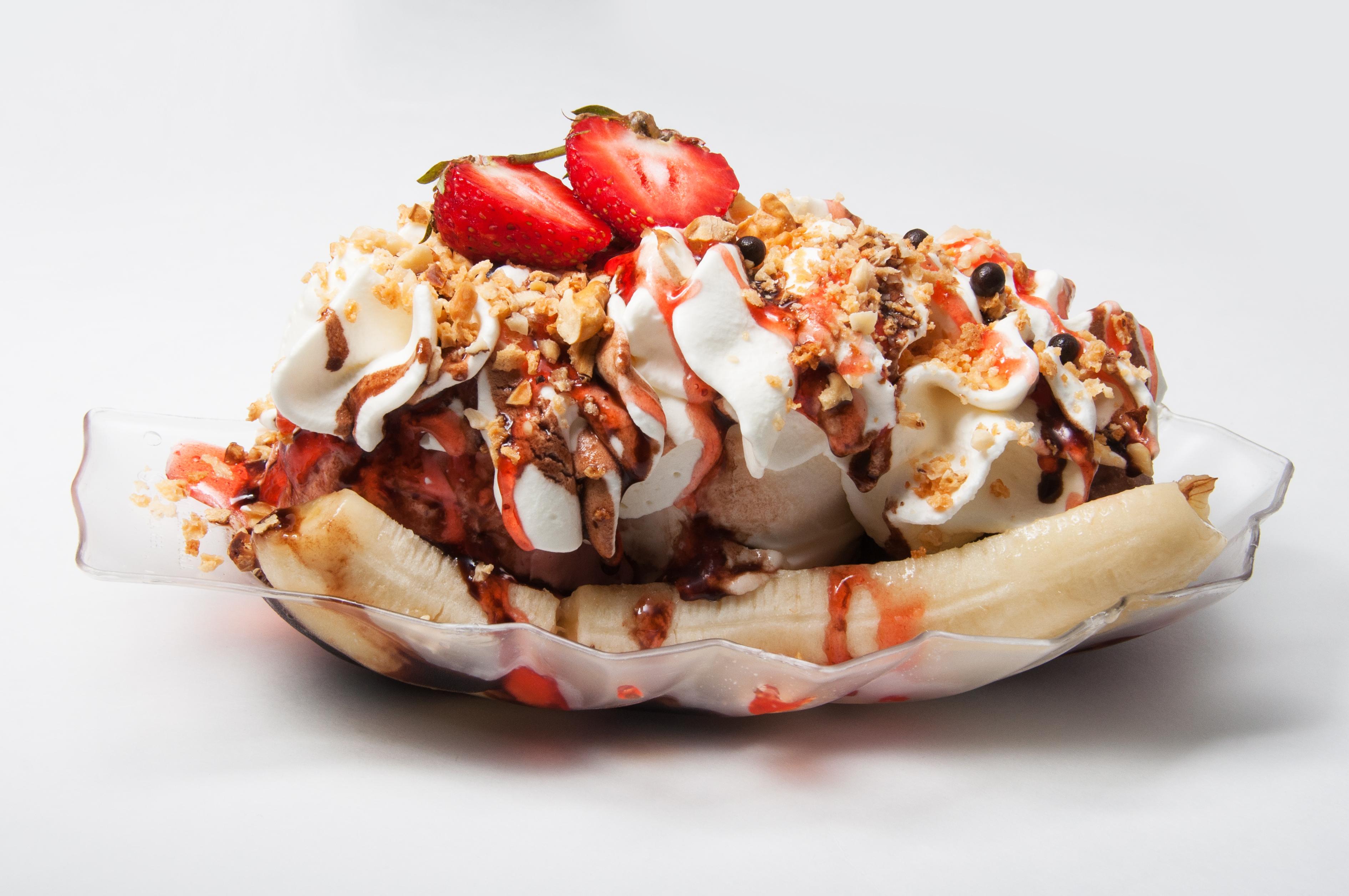 вкусное банановое мороженое