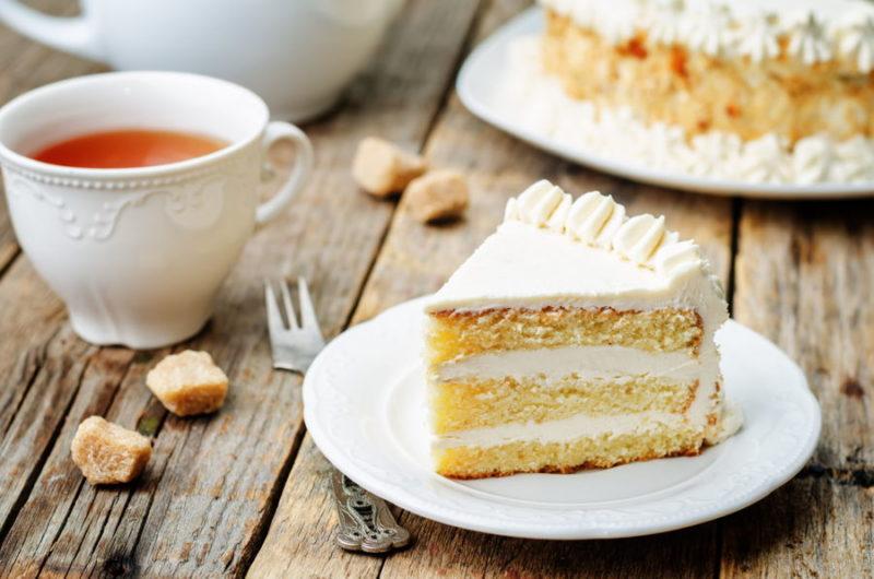 Нежное бисквитное пирожное
