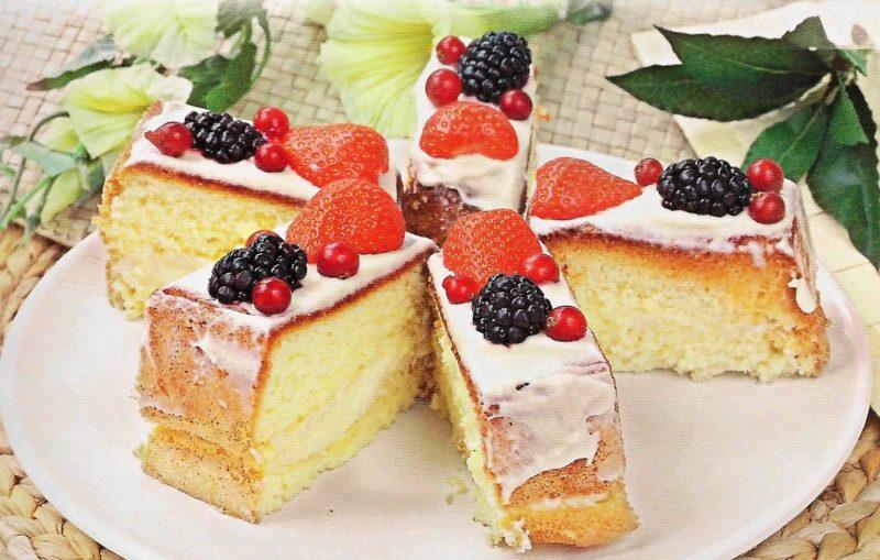 Нежное пирожное