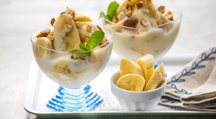 Десерт из бананов - рецепт приготовления