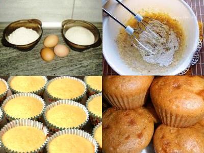 кексы в формочках рецепт готовки