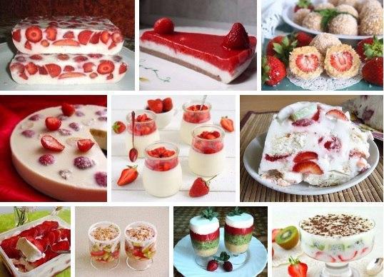 клубничные десерты без выпечки