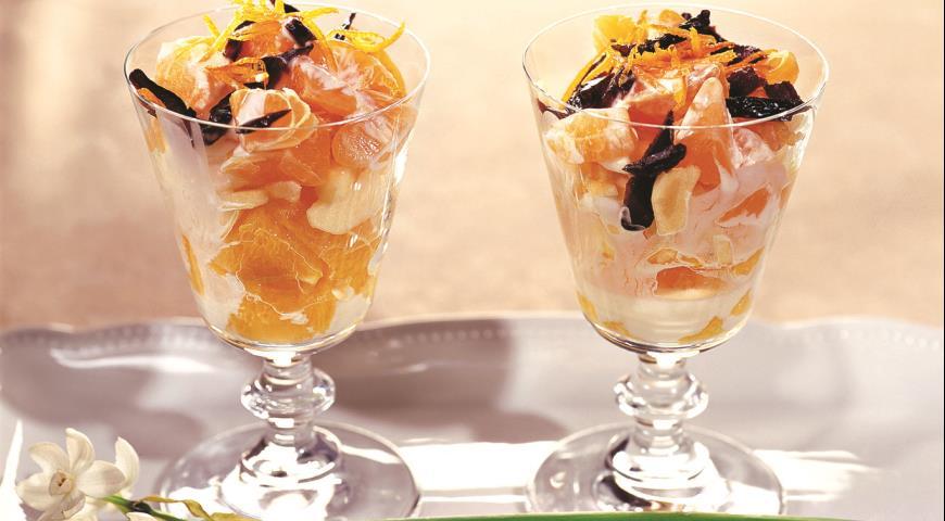Фруктовый салат рецепт слоями