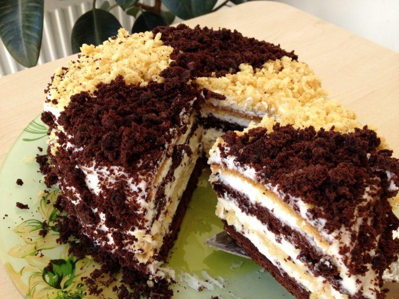 Лохматый торт «Сметанник»