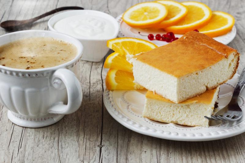 Творожно-рисовая запеканка с апельсином