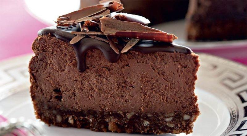 Творожно-шоколадный торт