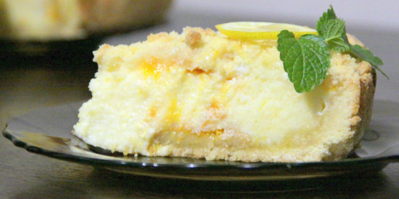 Творожный торт с лимоном