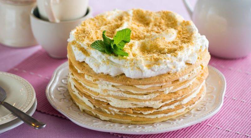 Торт Наполеон — рецепт приготовления на сковороде