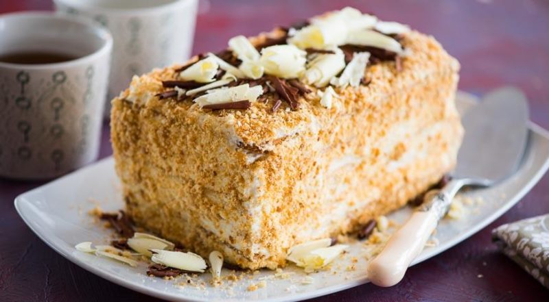 Торт со сгущенкой на сковороде. Проще рецепта не найти