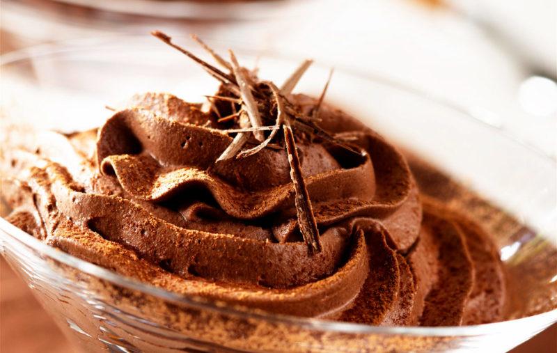 Шоколадно-творожный мусс