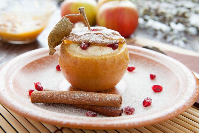 яблоки с творо